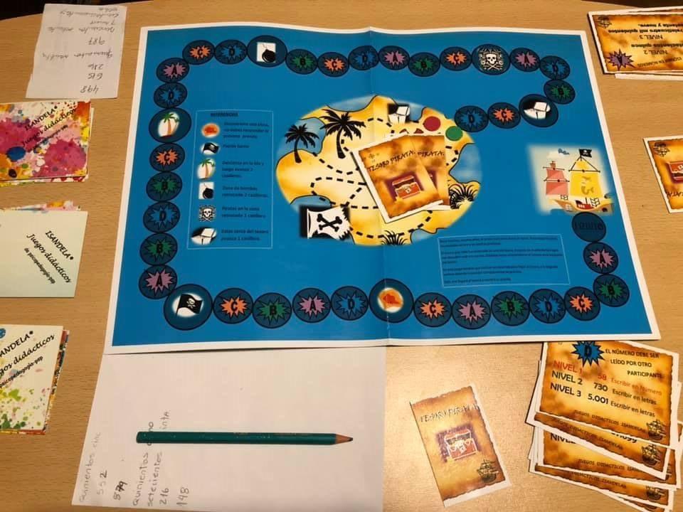 juego TESORO ESCONDIDO , Isandela juegos didácticos de autor.